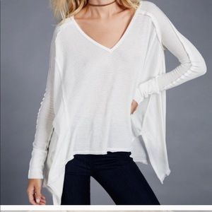 Free People Pacific oversized waffle thermal top